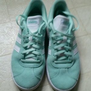 Shoes - Adidas suede and leather tennis shoes